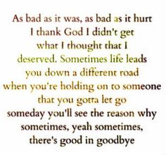 Country lyrics Good in Goodbye by Carrie Underwood