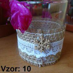 Sklenený svietnik Jarko - Sviečka - Bez sviečky, Vzor - Vzor 10