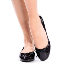 Casual Ballet Flat With String Bow...