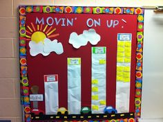 Data wall I created and used the last couple of years to track students acuity scores. They loved moving up in their buildings and to higher towers each assessment. go julie Kindergarten Data Wall, Classroom Data Wall, 4th Grade Classroom, Classroom Ideas, Classroom Rules, Classroom Displays, Science Classroom, Classroom Activities, Student Data Tracking