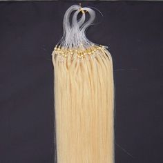 100S Micro rings/loop hair 16inches Human Hair Extensions #613