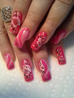 Pink flame. | See more at http://www.nailsss.com/acrylic-nails-ideas/2/