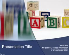 94 best education powerpoint templates images on pinterest abc powerpoint template is a free ppt template for educational presentations that you can free download toneelgroepblik Images