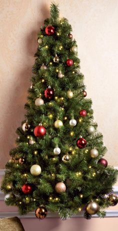 Save Yourself E And Money This Christmas With The Fabulous Led Pre Lit Wall Tree As It Attaches To Frees Up Floor Making Ideal