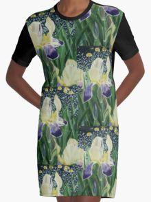 Gele Iris 2 Graphic T-Shirt Dress