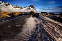Frosted dunes and shattered peaks by Trevor Cole