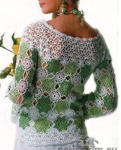 ergahandmade: Crochet Blouse + Diagrams