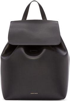 Mansur Gavriel Black Leather Backpack. @thecoveteur