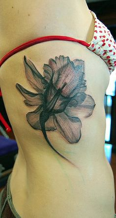 translucent flower tattoo