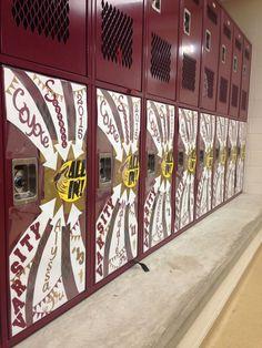 Cheercheerleading locker decoration Locker swag Pinterest