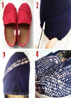 alisaburke: bleach painted shoes