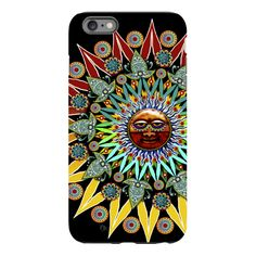 Sun Shaman iPhone 6 6s Plus TOUGH Case - Tribal Sun Face Art - Artistic Case for iPhone 6 6s Plus