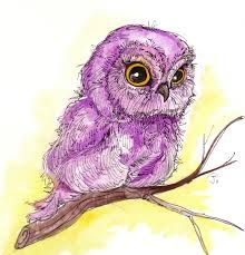 owl water color