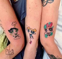 42 Coolest Matching BFF Tattoos That Prove Your Friendship Is Forever Mini Tattoos, Body Art Tattoos, Small Tattoos, Tattoo Art, Unique Tattoos, Cool Tattoos, Tatoos, Awesome Tattoos, Best Friend Tattoos