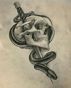 This would be a really badass tattoo – Serpent tattoo Skull Tattoo Design, Skull Tattoos, Body Art Tattoos, Sleeve Tattoos, Tattoo Designs, Ear Tattoos, Wing Tattoos, Celtic Tattoos, Animal Tattoos