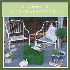 PennyWise: Splendor in the Grass: DIY My Spring Blog Hop Outdoor Ottoman