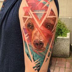 Ukrainian tattoo artist Andrey Lukovnikov creates amazing double exposure tattoos.