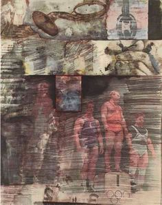 By Robert Rauschenberg, 1959, XXXIV Drawings for Dante's Inferno (including KAR), offset lithographs, MOCA, LA.