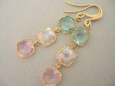 Pastel Color blocks earrings
