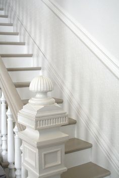 painted grey stairs runner - Google Search