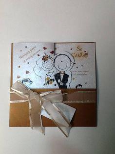 Tarjetas Invitacion Matrimonio Hermosas Desde $= Wedding Cards, Wedding Invitations, Marriage, Handmade, Invitations, Creativity, Paper, Amor, Dresses