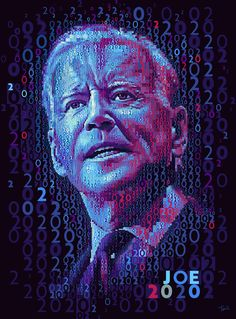 JOE 2020 Mosaic portrait of Vice President Joe Biden. #elections #Joe2020 #JoeBiden #mosaic #photomosaic Political Advertising, Mosaic Portrait, Photo Mosaic, Rainbow Flag, Cory Booker, Vice President, Joe Biden, Make It Through, Royalty Free Photos