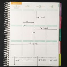 Weekly View - Credit to plannerama_mama for these Erin Condren dimensions.
