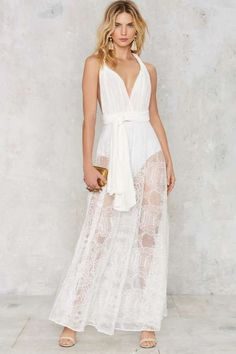 Voltage Multi Wear Maxi Dress - White Lace - What's New