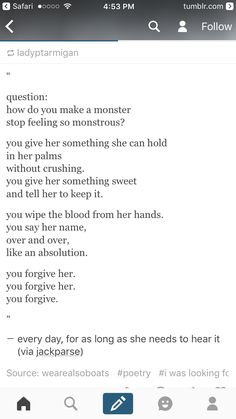 And then you crush her like the monster she is, you broke her, destroy her