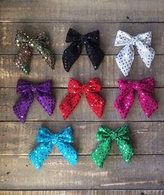 Cheer Bow Sequin | Hairband or Clips | The Haven Bow by RudysCutiesShop on Etsy