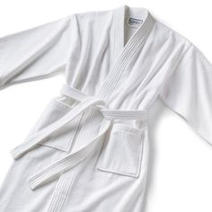 #Monogrammed Velour Bathrobe - White Kimono Style-Boca Terry-Top Notch Gift Shop #giftsformom #mom #giftideas #mothersday
