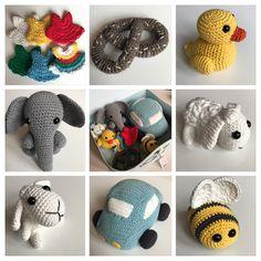 Min søde lille nevø på nu 2år (what tiden løbet stærkt?!) fik en hæklet sangkuffert i julegave. Og heldigvis blev både han og forældrene ... Crochet For Kids, Diy Crochet, Crochet Dolls, Crochet Baby, Baby Songs, Crochet Animals, Diy Baby, Double Crochet, Baby Knitting