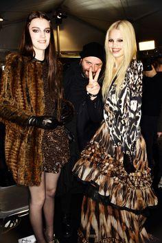 models backstage #animal #print #fashion