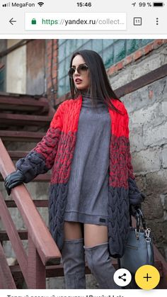 Cable work long cardigan made in red and gray. – Outfits for Work Cable work long cardigan made in red and gray. Trajes Business Casual, Business Casual Outfits, Classy Outfits, Cardigan Outfits, Long Cardigan, Knit Cardigan, Gray Outfits, Winter Outfits For Work, Red And Grey