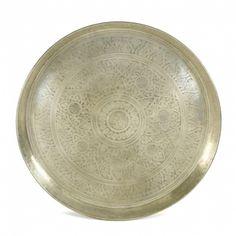 Kerek tálca, bronz – ID Design Kiegészítők - Dekoráció - Tálak, tálcák