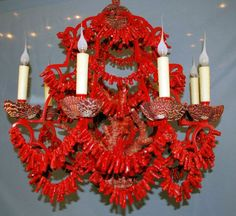 red coral chandelier lighting - Bing Images