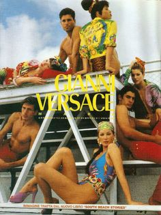 """a-state-of-bliss: """"Versace 1992 'South Beach Stories' - Kate Moss, Brandi Quinones, Christy Turlington & Tricia Helfer by Bruce Weber """" Gianni Versace, Versace Men, Christy Turlington, Versace Vintage, Bruce Weber, Versace Miami, House Of Versace, Versace Fashion, 90s Fashion"""