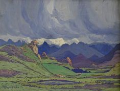 File:JH Pierneef - Landscape with clouds 1926 South Africa Art, Paintings I Love, Oil Paintings, South African Artists, Photo Tree, Landscape Paintings, Landscapes, Artist At Work, Art Images