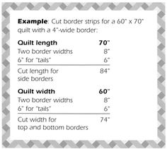 Calculating quilt border strip length with mitered corners-tutorial for cutting and sewing
