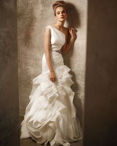 LOVE Vera Wang dresses! This one is a trumpet from the new spring 2011 White collection