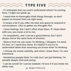 Communication with Enneagram Type 5 Type 5 Enneagram, Intj Personality, Personality Psychology, Psychology Quotes, Infj Type, Thing 1, Entp, Introvert, Self Help