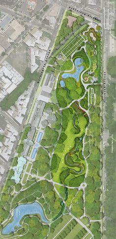 Brooklyn Botanic Garden Masterplan. Brooklyn, NY