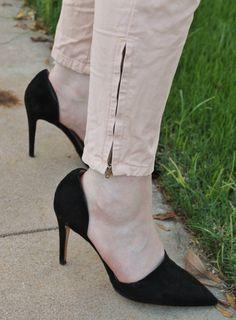 Black heels, d'orsay heels