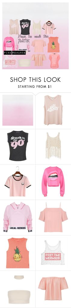 """How to roch the pink"" by linavasileiadou on Polyvore featuring Wildfox, Local Heroes, T By Alexander Wang, Billabong, Rebecca Taylor and Replace"