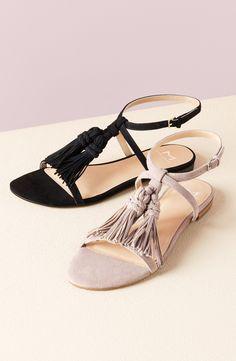 39539d134 Marc Fisher LTD  Crystal  Tassel Flat Sandal (Women)