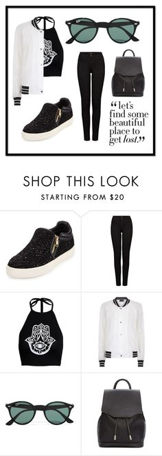 """""""My touch is black and poisonous"""" by saintlaurentsputa ❤ liked on Polyvore featuring Ash, J Brand, Antipodium, Ray-Ban and rag & bone"""