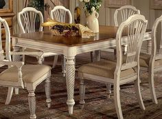 Antique White Kitchen Table Sets - Where food is manufactured in the home, the kitchen is mainly. White Kitchen Table Set, White Dining Room Table, Rectangle Dining Table, Dining Table Design, Table And Chairs, Dining Chairs, Kitchen Tables, Round Kitchen, Arm Chairs