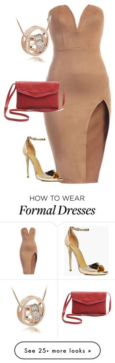 """""""Elegant Formal Dress Pu Leather Strap Red Teen Woman Gift silver Case Watch"""" by info-klompa on Polyvore featuring Boohoo"""