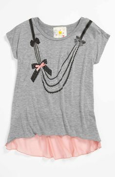 0a86c631041 Main Image - Jenna  amp  Jessie  Necklace  Tee (Little Girls) Bow