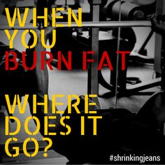 When You Burn Fat, Where Does It Go? #shrinkingjeans